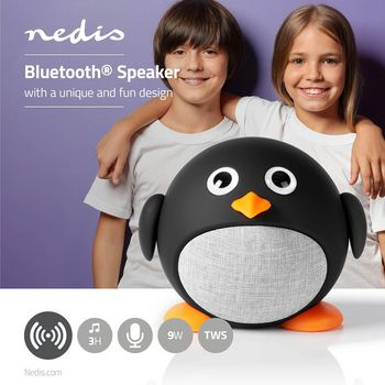 Animaticks Bluetooth Speaker | 3 hours playtime | Hands-free calling | Pippy Pinguin
