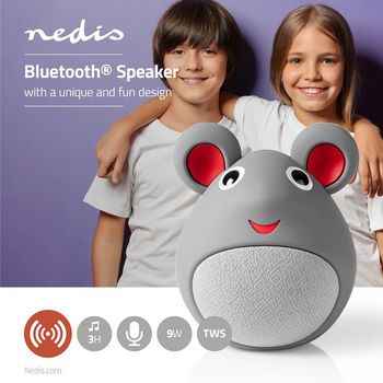 Animaticks Bluetooth Speaker | 3 hours playtime | Hands-free calling | Melody Mouse