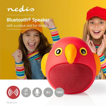 Animaticks Bluetooth Speaker | 3 hours playtime | Hands-free calling | Perry Parrot