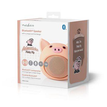 Animaticks Bluetooth Speaker | 3 Uur Speeltijd | Handsfree Bellen | Pinky Pig