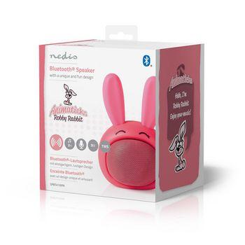 Enceinte Bluetooth Animaticks | 3 heures d'autonomie | Appels en mode mains libres | Robby Rabbit