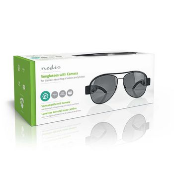 Spy Camera Sunglasses | 1920 x 1080 Video | 4032 x 3024 Photo | Rechargeable