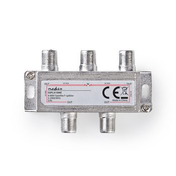 Satellite F-Splitter | Max. 11.5 dB Insertion loss | 5 - 2400 MHz | 4 Outputs