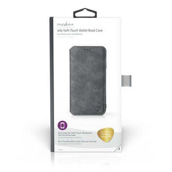 Puha Zselés TárcakönyvTok Samsung Galaxy S10-hoz   Fekete
