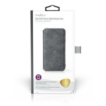 Puha Zselés TárcakönyvTok Samsung Galaxy A8s-hoz | Fekete