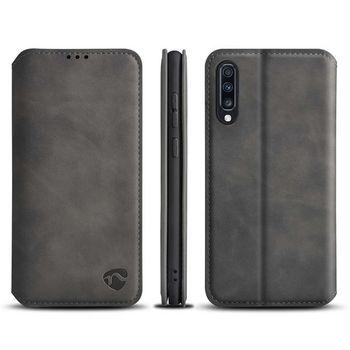 Puha Tárcakönyvtok Samsung Galaxy A70S-hez | Fekete