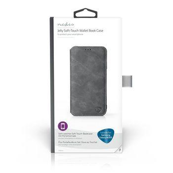 Puha Tárcakönyvtok Samsung Galaxy M10S-hez | Fekete