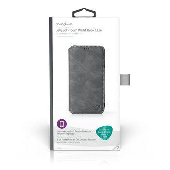 Puha Zselés TárcakönyvTok Apple iPhone-hoz 7 Plus / 8 Plus | Fekete