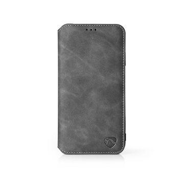 Puha Zselés Tárcakönyvtok for Huawei P20 | Fekete