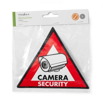 Warning Sticker | Camera Security symbol | Set of 5 pieces