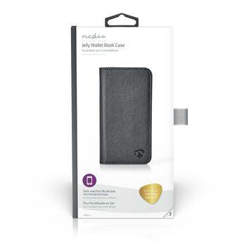 Sehr Weiches Bookcase mit Portemonnaie für Samsung Galaxy S7   Schwarz