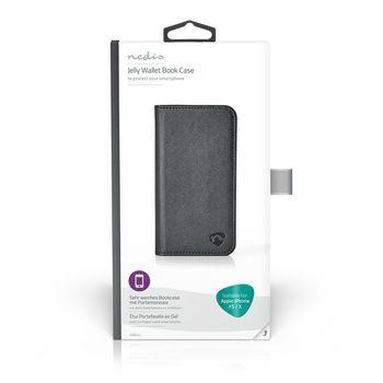 Étui Portefeuille en Gel pour Apple iPhone X / Xs | Noir