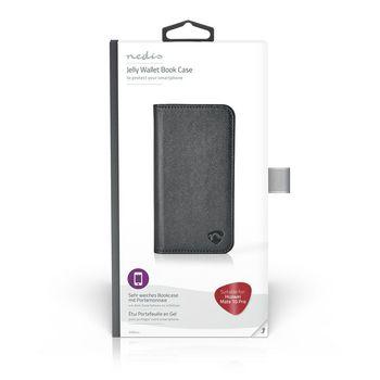 Gelové Peněženkové Pouzdro pro Huawei Mate 10 Pro | Černá Barva