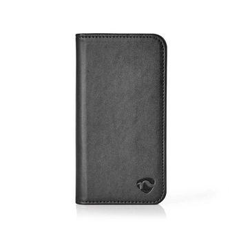 Sehr Weiches Bookcase mit Portemonnaie für Huawei Y6 2018 | Schwarz