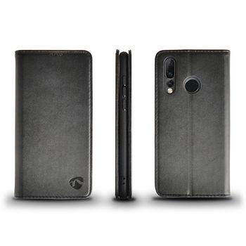 Sehr Weiches Bookcase mit Portemonnaie für Huawei Nova 4 | Schwarz