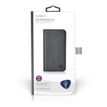 Wallet Book voor Nokia 8 | Zwart