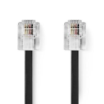 Telecom Cable   RJ11 Male - RJ11 Male   2.0 m   Black