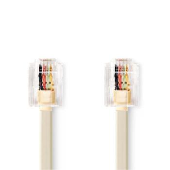 Telecom Cable | RJ11 Male - RJ11 Male | 5.0 m | Ivory