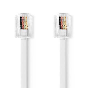 Telecom Cable   RJ11 Male - RJ11 Male   5.0 m   White
