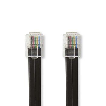 Telecom Cable   RJ12 (6P6C) Male - RJ12 (6P6C) Male   1.00 m   Black