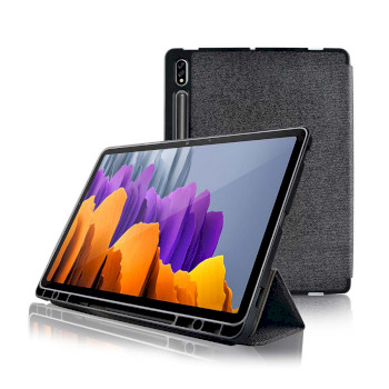 Tablet Folio Case | Used for: Samsung | Galaxy Tab S7 | Auto-wake function | Grey/Black