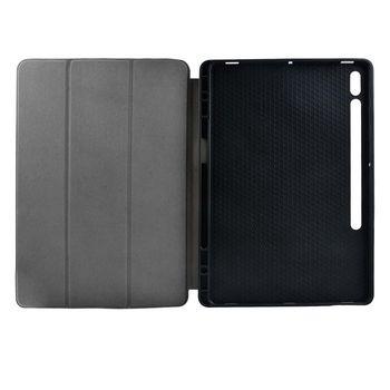 Tablet Folio Case | Gebruikt voor: Samsung | Galaxy Tab S7+ | Auto-wake-functie | Grijs/Zwart