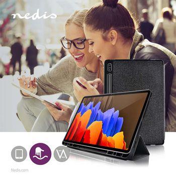 Tablet Folio Case | Used for: Samsung | Galaxy Tab S7+ | Auto-wake function | Grey/Black