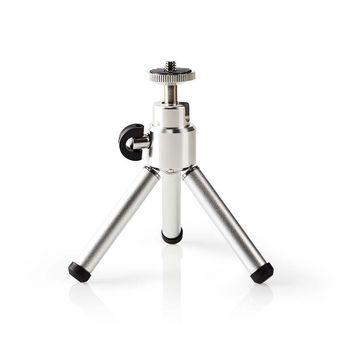 Ministatief | Pan & Tilt | Max. 0,8 kg | 13,4 cm | Zwart / zilver