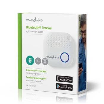 Tracker / Locator / Finder | Bluetooth | Works up to 50M | With Motion Detection | White