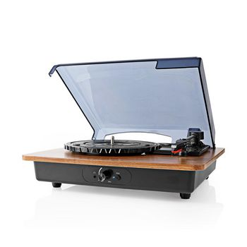 Turntable | 9 W | Bluetooth ® | Dust Cover | Brown