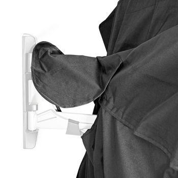 "Outdoor TV Screen Cover   50"" - 52""   Supreme Quality Oxford Cloth   Remote Control Holder   Black"