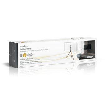 TV-vloerstandaard | 55 - 65 inch | maximaal 30 kg | geschikt voor Samsung® Q-LED | Zwart / Beuk