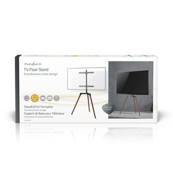 TV-vloerstandaard | 50 - 65 inch | maximaal 35 kg | Scandinavisch ontwerp | Zwart / Beuk