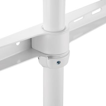 Standfuß für Fernseher   60 - 75 Zoll   bis zu 40 kg   Skandinavisches Design   Weiß/Buche