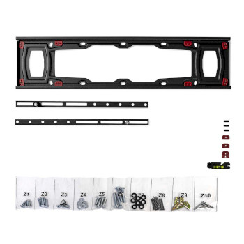 """Fixed TV Drywall Mount   37 - 70""""   Max. 40 kg   28 mm Wall Distance   Black"""