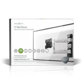 "Full Motion TV Wall Mount | 13-26"" | Max 30 kg | 3 Pivot Points"