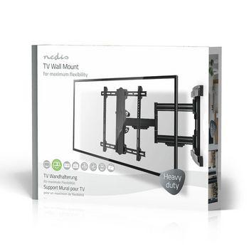 "Full Motion TV Wall Mount   37-80""   Max 50 kg   3 Pivot Points"
