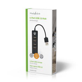 USB Hub | 4-Port | USB 2.0 | Black