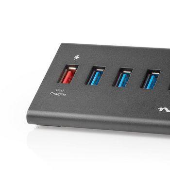 USB Hub   5-Port   USB 3.0 Powered   QC3.0 Charge Port   5 Gbps   Aluminium