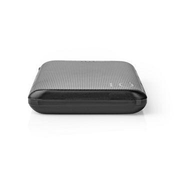 Powerbank | 10.000 mAh | 3x udgang 3,0 / 2,1 / 1,0 A | USB-C™-/Micro USB-indgang | Sort