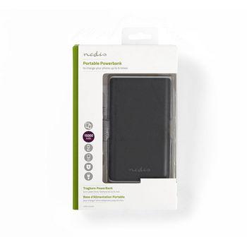 Powerbank | 15000 mAh | 2 USB-A uitgangen 3.1 A | micro-USB ingang | Zwart