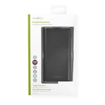 Power Bank | 20000 mAh | 2-USB-A outputs 3.1A | Micro USB input | Black