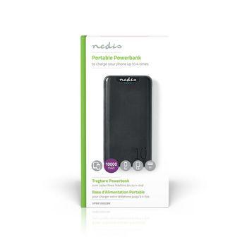 Powerbank | 5000 mAh | 2 USB-A Outputs 1.0 A | Micro USB Input | Black
