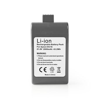 Vacuum Cleaner Battery | Li-Ion | 21.6V | 2 Ah | 43.2 Wh | Replacement for Dyson DC16 Series
