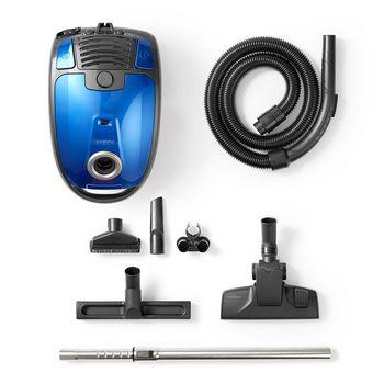 Vacuum Cleaner | With Bag | 700 W | Parquet Brush | 3.5 L Dust Capacity | Blue