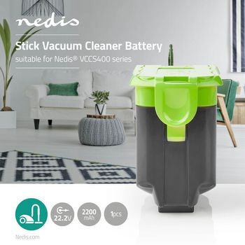 Stick Vacuum Cleaner Battery   Suitable for Nedis® VCCS400 Series