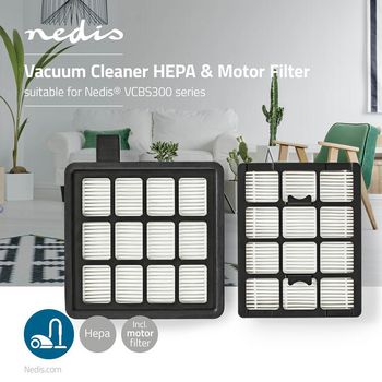 Vacuum Cleaner HEPA & Motor Filter | Suitable for Nedis® VCBS300 Series