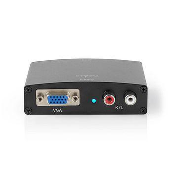HDMI™ Converter | HDMI™ Input | VGA / 2x RCA Male | 1-way | 1280x768 | 1.65 Gbps | Aluminium | Anthracite