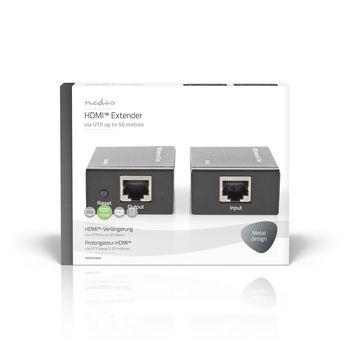 HDMI CAT5 -Laajennin | 1080p | Enintään 50,0 m - HDMI™-Lähtö + RJ45, Naaras | HDMI™-Tulo + RJ45, Naaras