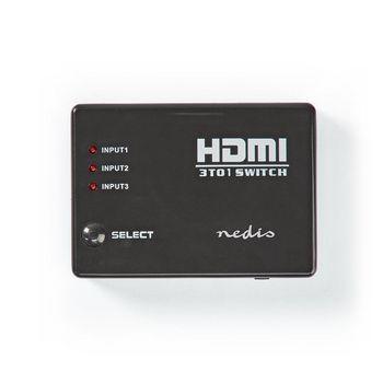 HDMI-schakelaar | 3 poorten | 3x HDMI-ingang | 1x HDMI-uitgang | 1080p | ABS | antraciet | doos